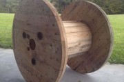 Αναπαυτικό κάθισμα από καρούλι καλωδίου (1)