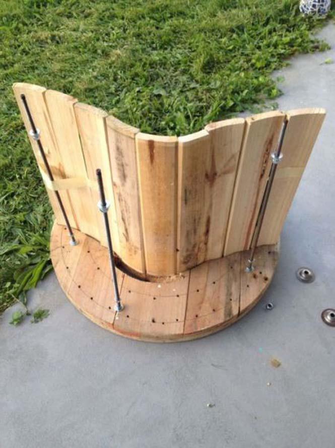 Αναπαυτικό κάθισμα από καρούλι καλωδίου (11)