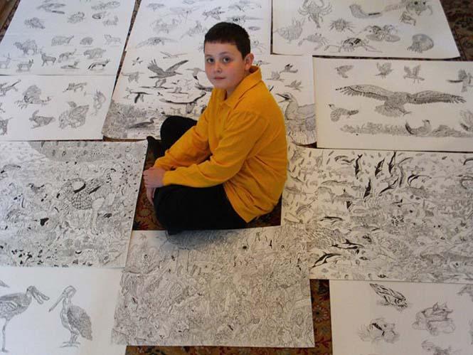Απίστευτα λεπτομερείς ζωγραφιές από έναν 11χρονο (6)