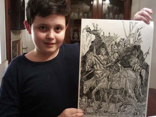 Απίστευτα λεπτομερείς ζωγραφιές από έναν 11χρονο (9)