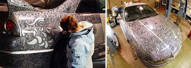 Έδωσε το αυτοκίνητο του και έναν ανεξίτηλο μαρκαδόρο στην καλλιτέχνιδα γυναίκα του (6)