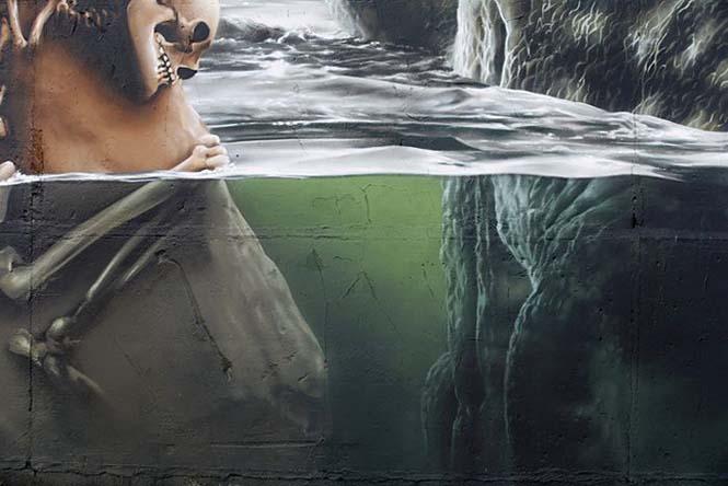 Εντυπωσιακό graffiti Jurassic Park (4)