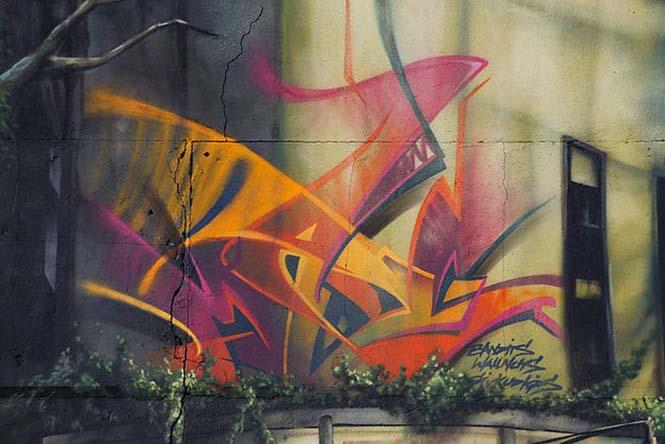Εντυπωσιακό graffiti Jurassic Park (6)