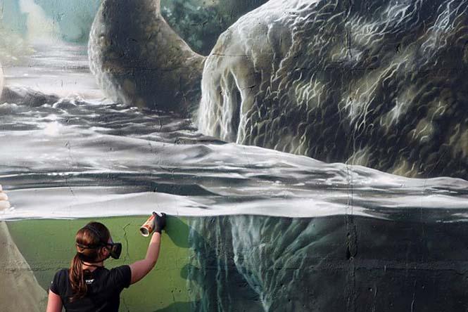 Εντυπωσιακό graffiti Jurassic Park (10)