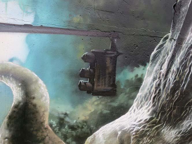 Εντυπωσιακό graffiti Jurassic Park (13)