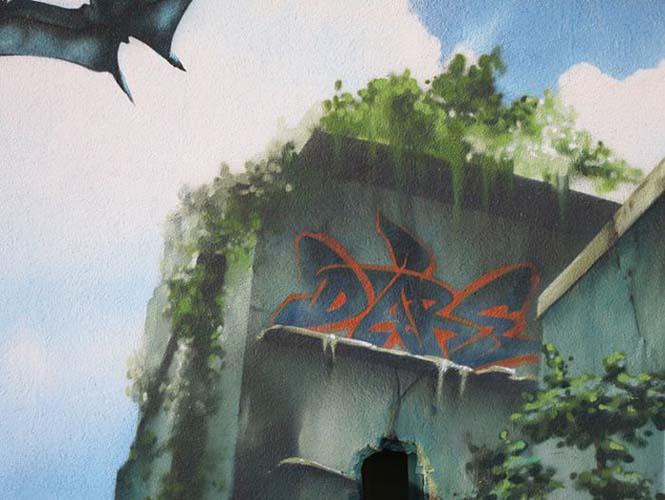 Εντυπωσιακό graffiti Jurassic Park (16)