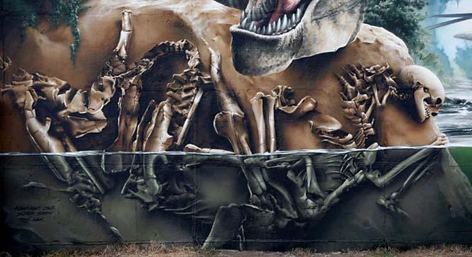 Εντυπωσιακό graffiti Jurassic Park (22)