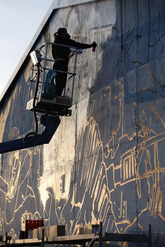 Εντυπωσιακό graffiti Jurassic Park (25)