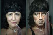 Γυναίκα χρησιμοποιεί το μακιγιάζ για να μεταμορφωθεί σε διάσημους σκληρούς άνδρες (1)