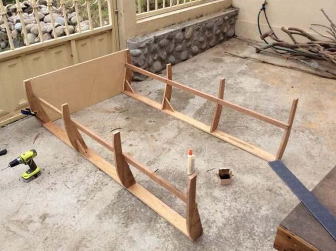 Γονείς κατασκεύασαν κρεβάτι - βάρκα για το παιδί τους (2)