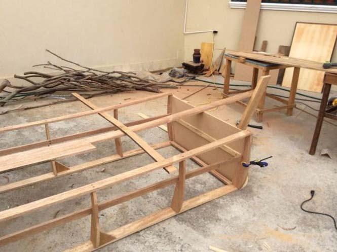 Γονείς κατασκεύασαν κρεβάτι - βάρκα για το παιδί τους (6)