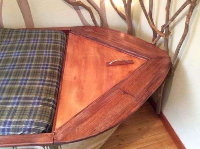 Γονείς κατασκεύασαν κρεβάτι - βάρκα για το παιδί τους (10)