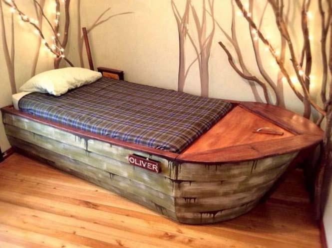Γονείς κατασκεύασαν κρεβάτι - βάρκα για το παιδί τους (11)