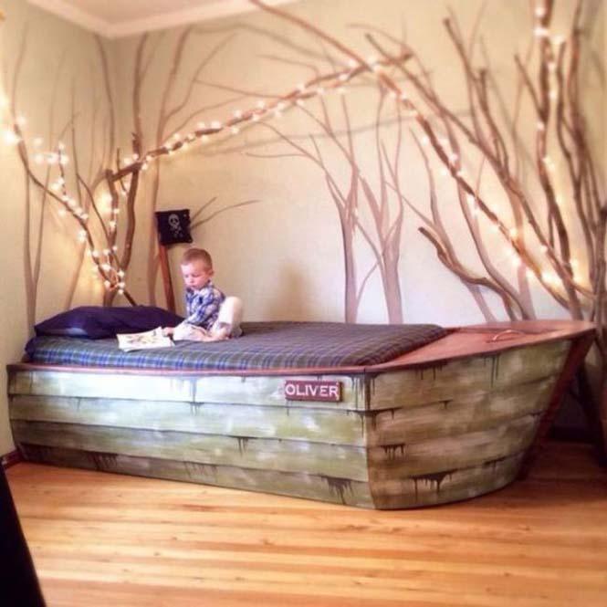Γονείς κατασκεύασαν κρεβάτι - βάρκα για το παιδί τους (12)