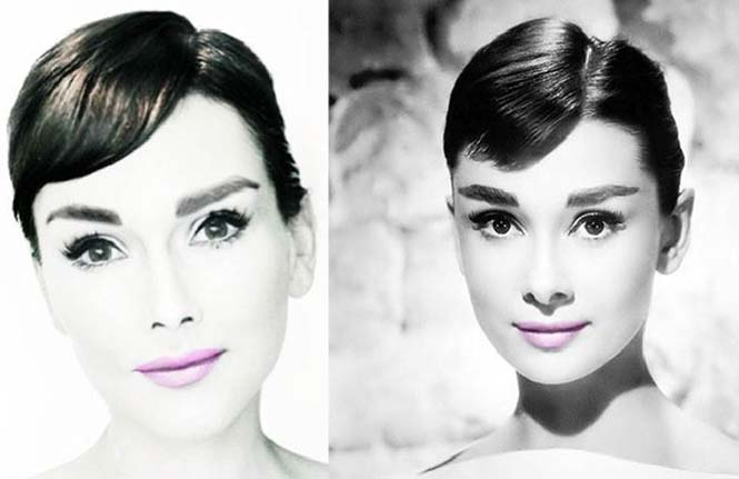Make-up artist του Hollywood μεταμορφώνεται σε διάσημα πρόσωπα (10)