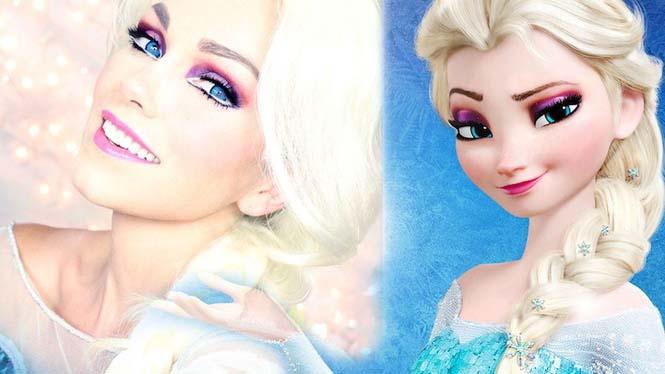 Make-up artist του Hollywood μεταμορφώνεται σε διάσημα πρόσωπα (17)