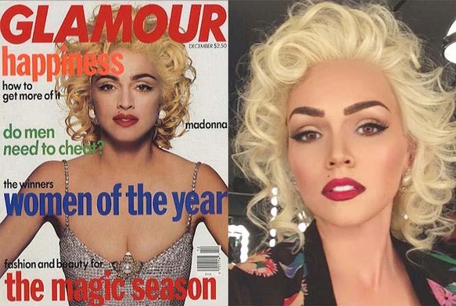 Make-up artist του Hollywood μεταμορφώνεται σε διάσημα πρόσωπα (15)