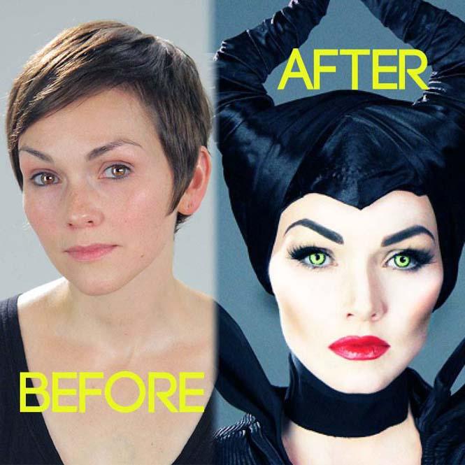 Make-up artist του Hollywood μεταμορφώνεται σε διάσημα πρόσωπα (5)