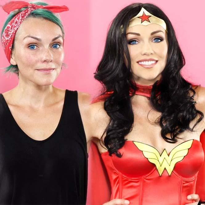Make-up artist του Hollywood μεταμορφώνεται σε διάσημα πρόσωπα (8)