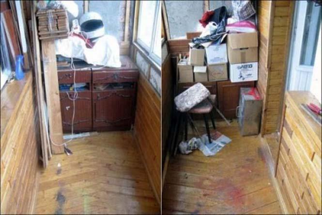 Η μετατροπή ενός παλιού και ακατάστατου μπαλκονιού σε λειτουργικό γραφείο (1)