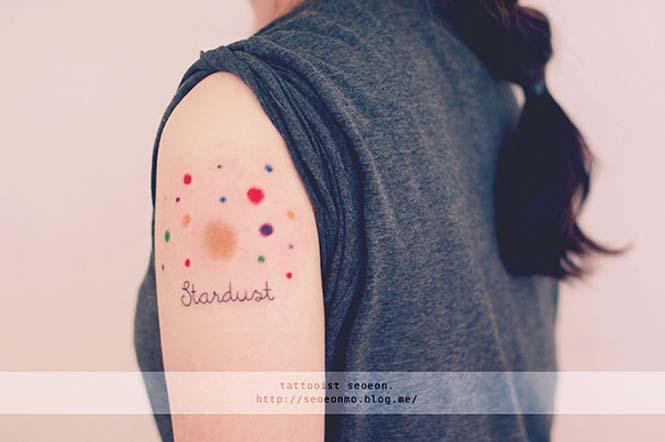 Μινιμαλιστικά τατουάζ από την Seoeon (1)