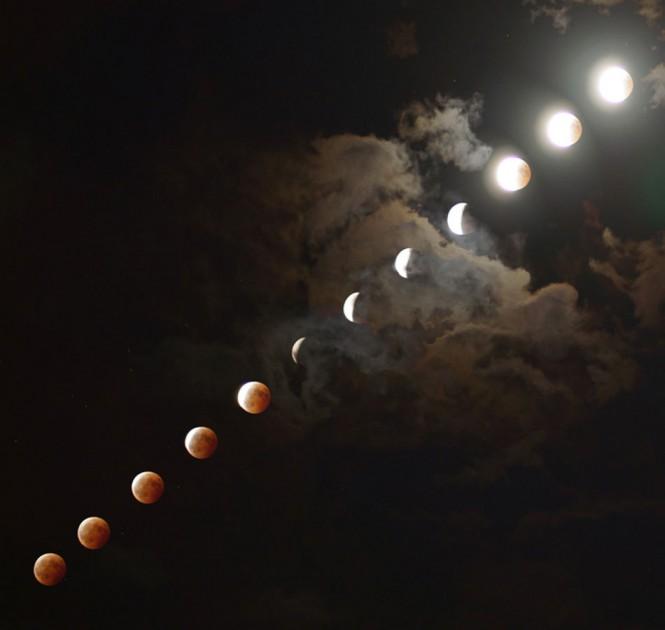 Καρέ καρέ η χθεσινή έκλειψη Σελήνης | Φωτογραφία της ημέρας
