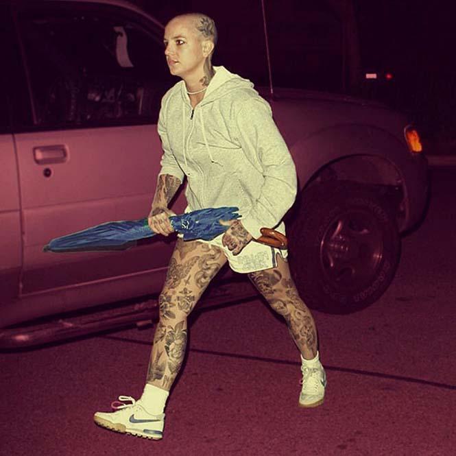 Καλλιτέχνης φαντάζεται τους διάσημους με τατουάζ χρησιμοποιώντας το Photoshop (3)
