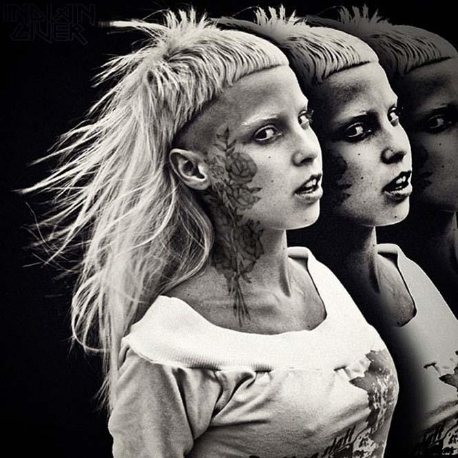 Καλλιτέχνης φαντάζεται τους διάσημους με τατουάζ χρησιμοποιώντας το Photoshop (9)