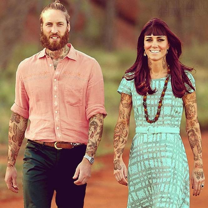Καλλιτέχνης φαντάζεται τους διάσημους με τατουάζ χρησιμοποιώντας το Photoshop (19)