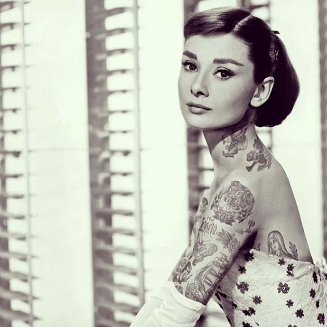 Καλλιτέχνης φαντάζεται τους διάσημους με τατουάζ χρησιμοποιώντας το Photoshop (23)