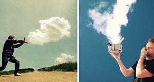 Ένας φωτογράφος παίζει με τα σύννεφα