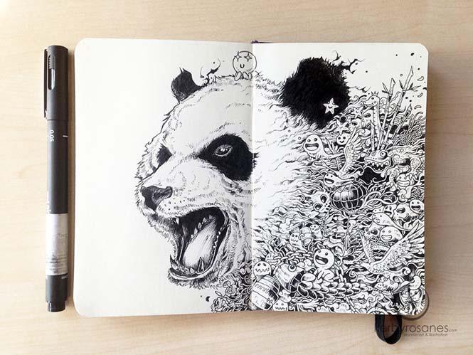 Περίτεχνα σκίτσα με στυλό από τον Kerby Rosanes (2)