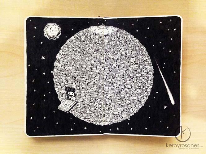 Περίτεχνα σκίτσα με στυλό από τον Kerby Rosanes (3)