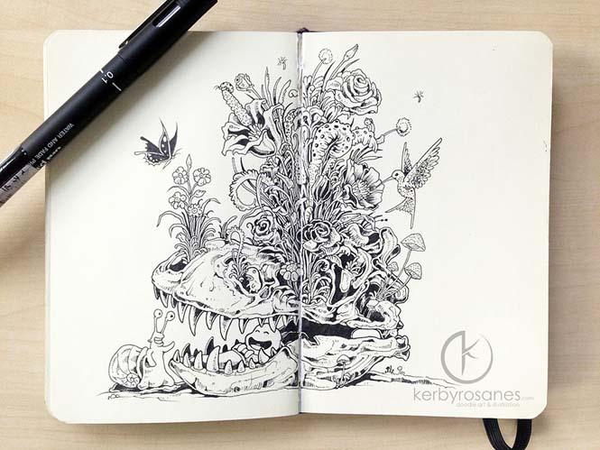 Περίτεχνα σκίτσα με στυλό από τον Kerby Rosanes (4)