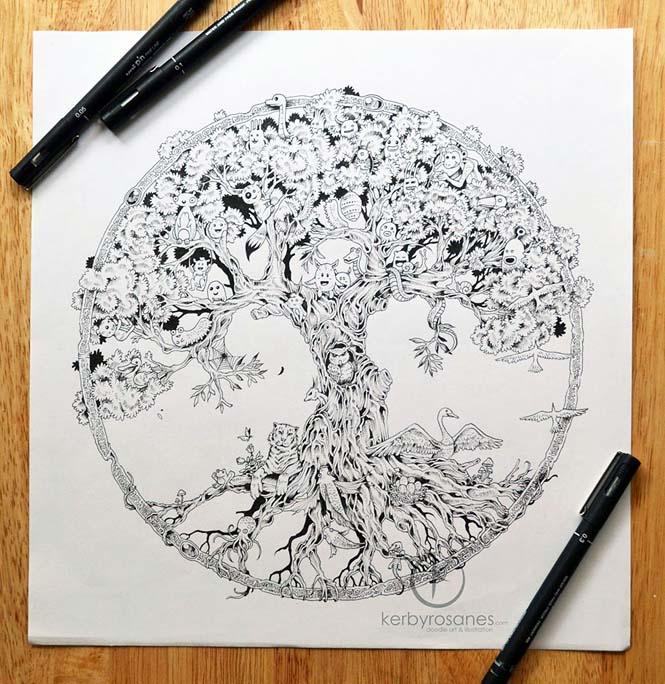 Περίτεχνα σκίτσα με στυλό από τον Kerby Rosanes (6)