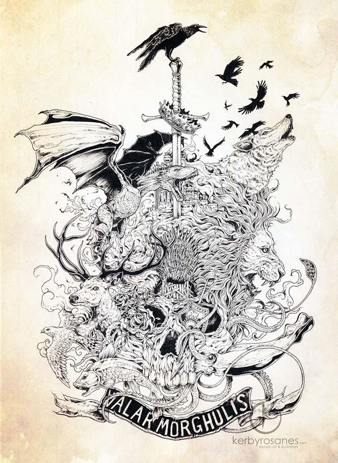 Περίτεχνα σκίτσα με στυλό από τον Kerby Rosanes (9)
