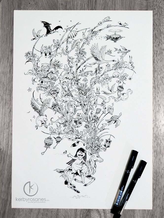 Περίτεχνα σκίτσα με στυλό από τον Kerby Rosanes (12)