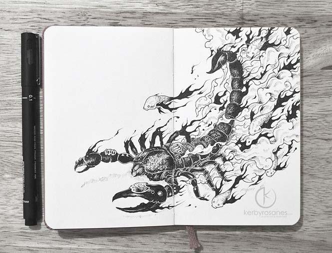 Περίτεχνα σκίτσα με στυλό από τον Kerby Rosanes (13)