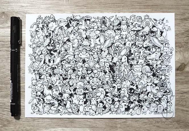 Περίτεχνα σκίτσα με στυλό από τον Kerby Rosanes (14)