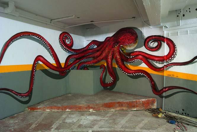 Πορτογάλος καλλιτέχνης δημιουργεί εκπληκτικά 3D graffiti που μοιάζουν να αιωρούνται στον αέρα (12)