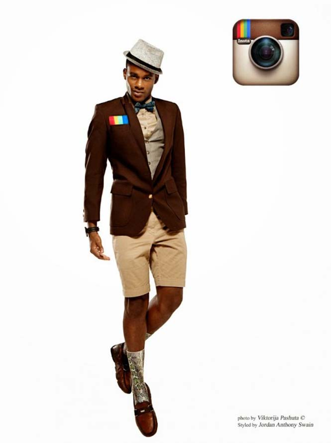 Άνδρες ντυμένοι ως Social Media (2)