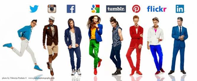 Άνδρες ντυμένοι ως Social Media (1)