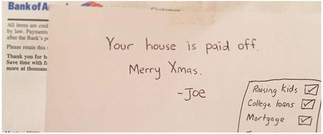 Το καλύτερο δώρο Χριστουγέννων από έναν γιο προς τους γονείς του