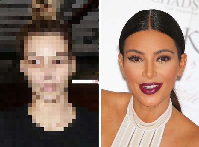 Οι Kardashians χωρίς μακιγιάζ (1)