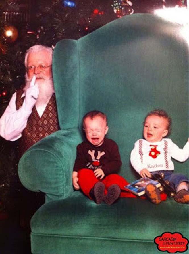 Οι πιο αστείες φωτογραφήσεις με τον Άγιο Βασίλη (3)