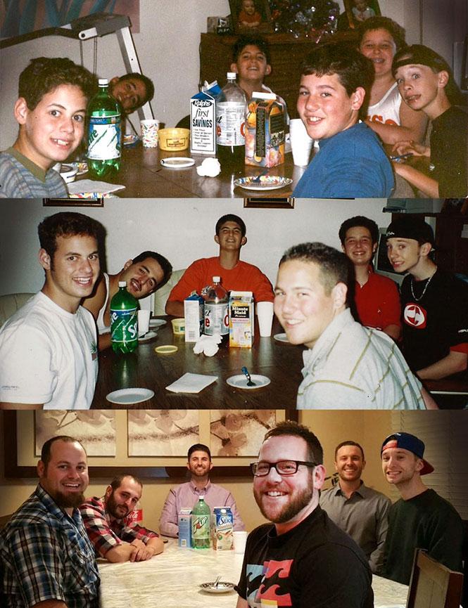 Μια παρέα φίλων στα 10, 17 και 29   Φωτογραφία της ημέρας