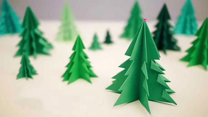 Πως να μετατρέψετε ένα χαρτί σε 3D χριστουγεννιάτικο δένδρο