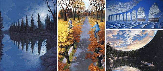25 πίνακες ζωγραφικής - οφθαλμαπάτες που παίζουν με το μυαλό