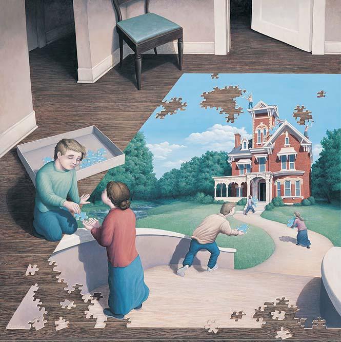 Πίνακες ζωγραφικής - οφθαλμαπάτες που παίζουν με το μυαλό (4)
