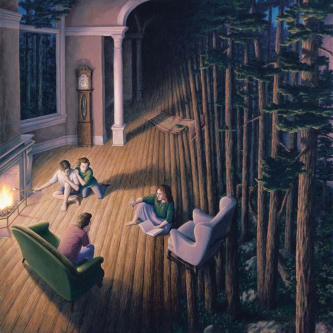 Πίνακες ζωγραφικής - οφθαλμαπάτες που παίζουν με το μυαλό (10)